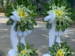hoa đám tang châu thành a